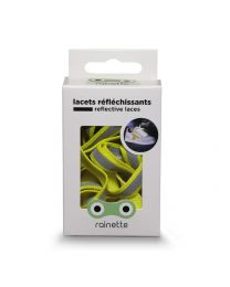 Rainette reflective shoe laces - Yellow