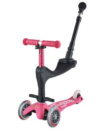 Mini Micro Deluxe 3in1 Roze Push Bar