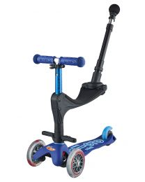 Mini Micro Deluxe 3in1 Blauw Push Bar