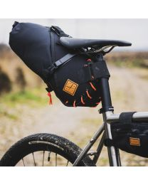 SADDLE BAG - Large 14 litre - Orange/Blck