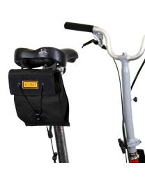 CITY BIKE SADDLE BAG SMALL - BLACK